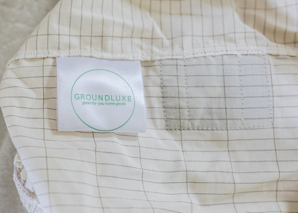 GroundLuxe sheet with label