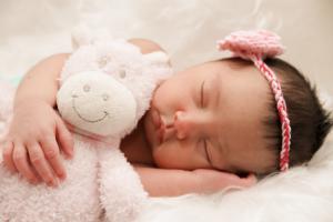 baby girl is sleeping